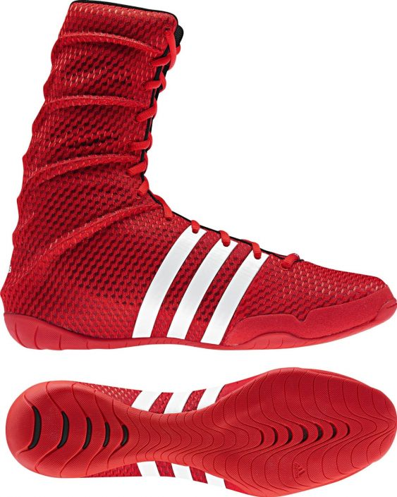 Chaussure de boxe anglaise rouge Adidas